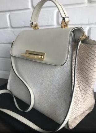 Новая оригинал лимитка zac posen сумка из сша лимитка кожа