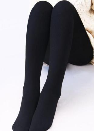 Тёплые колготки зимние чёрные плотные колготки 350 дэн хлопок высокое качество р, 2,3,5