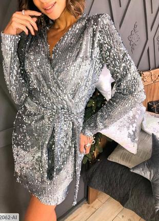 Платье в пайетки на новый год