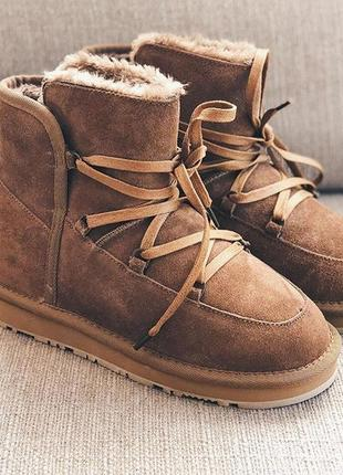Угги ugg australia на шнуровке