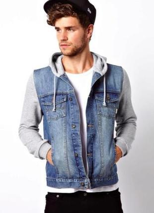 Мужская джинсовая куртка h&m