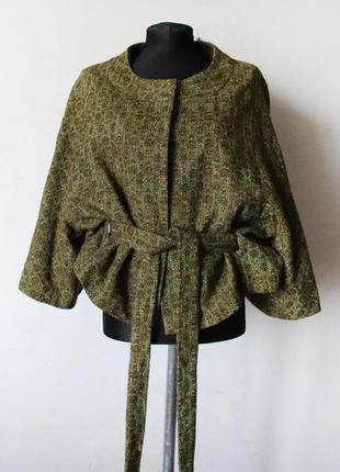 Пиджак кимоно гобелен  hoss intropia с брошью шерсть в составе