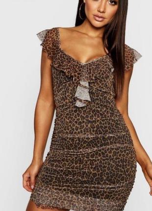Стильна леопардова сукня