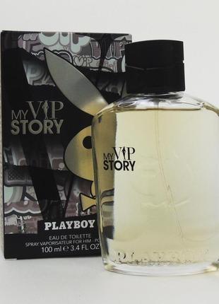 Playboy my vip story 100 мл туалетная вода для мужчин оригинал