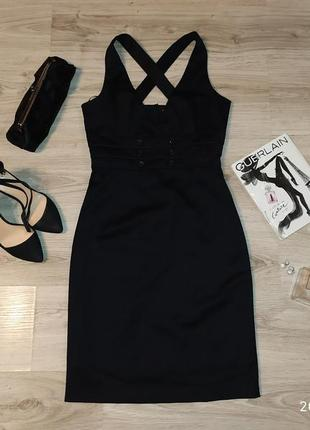 Платье сарафан классическое черное