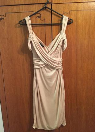 Платье плаття беж пудра