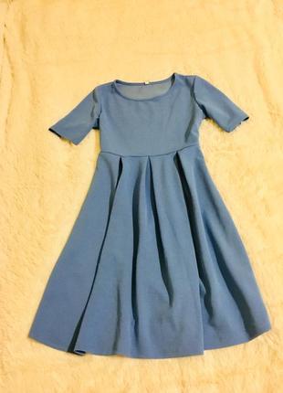 Сукня небесного кольору, платье голубе