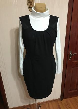 Комбинированое платье-футляр,сарафан