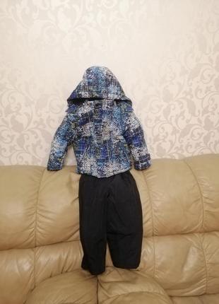 Зимняя куртка+комбинезон на мальчика 2-3 года