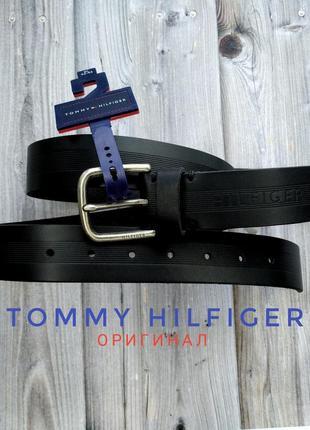 Ремень кожа tommy hilfiger, оригинал из сша