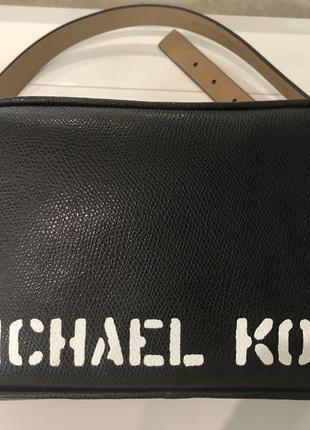 Michael kors кожаная поясная сумка