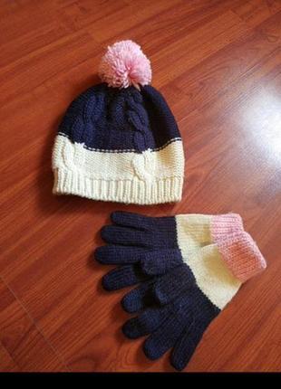 Шапка + перчатки