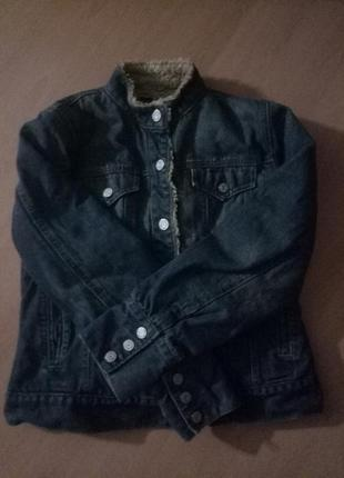 Джинсовая куртка на меху gap