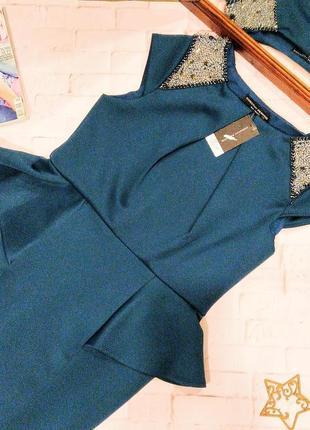 Новое! платье футляр чехол с баской dorothy perkins