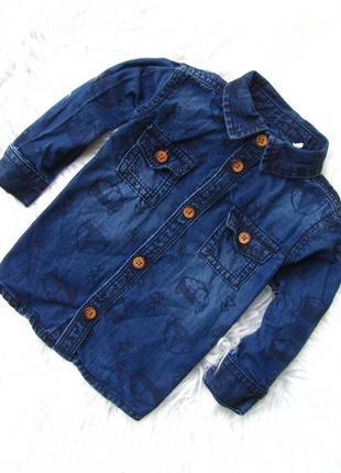 Качественная и стильная джинсовая рубашка tu