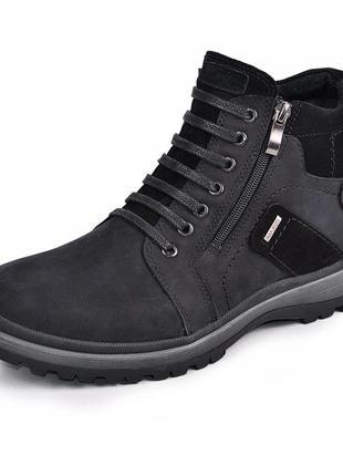 Ботинки зимние, нубук. зима или осень.
