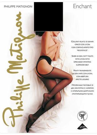 Фирменные эротические колготы с вырезами philippe matignon enchant – 20 ден
