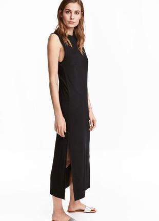 Длинное трикотажное платье h&m