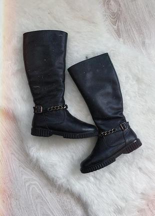 🌿 кожаные зимние сапоги мида • ботинки кожа mida
