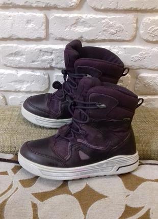 Зимние ботинки ecco с мембраной gore-tex размер 31 (ст. 20.3 см).
