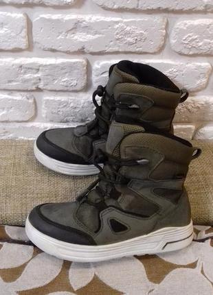 Зимние ботинки ecco с gore-tex размер 31 (ст. 20.5 см). отличные