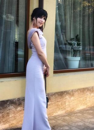 Шикарна брендова шовкова сукня з норкою!!!