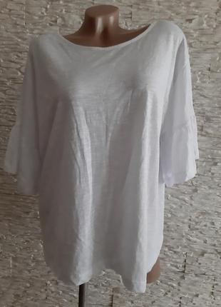 Красивая качественная футболка с рукавами воланами  zara
