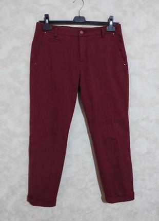Брюки чиносы джинсы цвет бордо марсала, l-xl, benetton