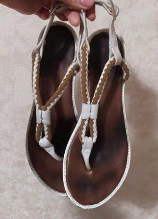 Кожаные босоножки сандалии andrea sabbatini, 40 р