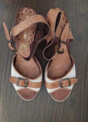 Кожаные босоножки street shoes, 39 р