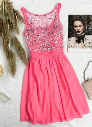 Нарядное платье с расшитым лифом и пышной юбкой  dr1947032  quiz