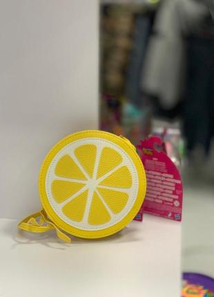 Сумочка, сумка через плече цитрус лимон апельсин