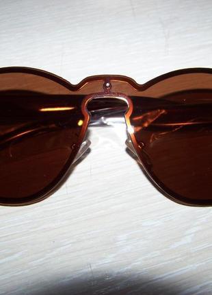 Безободковые стильные солнцезащитные очки унисекс дымчатые шоколад италия3 фото