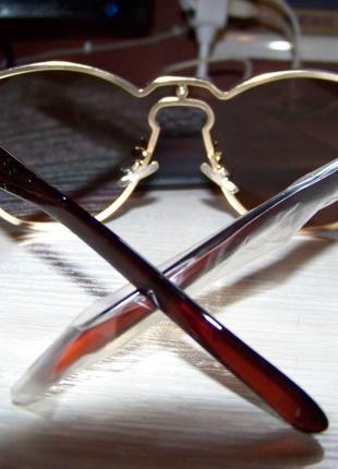 Безободковые стильные солнцезащитные очки унисекс дымчатые шоколад италия7 фото