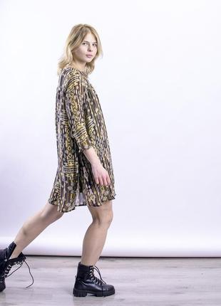 Короткое платье стильное, свободное платье демисезон, шифоновое платье с принтом