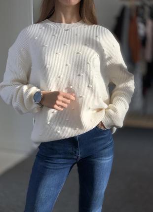 Оверсайз свитер mango 40