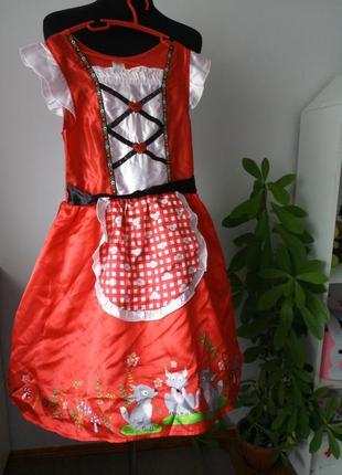 Карнавальный, костюм красная шапочкаот f&f