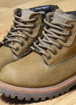 Skechers, оригинал, ботинки мужские зимние, стильные удобные кожаные