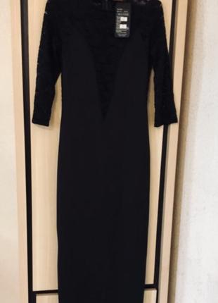 Платье миди вечернее нарядное кружевное