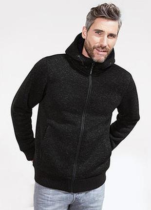 Теплая флисовая вязаная куртка толстовка р.50-52наш tcm tchibo германия
