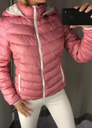 Розовая демисезонная куртка стёганая курточка на синтепоне. amisu.