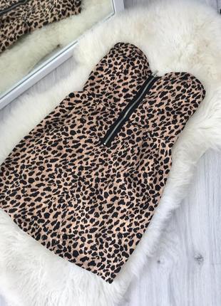 Платье леопард, стильный принт