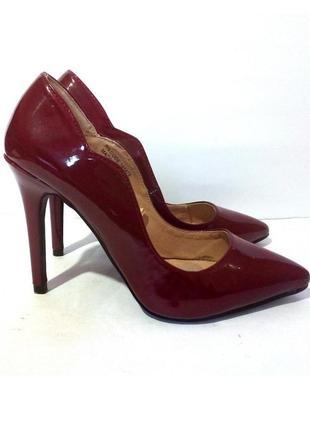 Стильные лаковые туфли лодочки от бренда atmosphere, р.36 код t3606