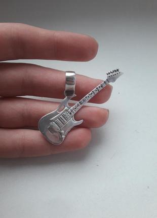 """Кулон """"гитара"""", серебро."""