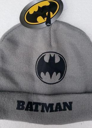 Модная шапка на мальчика подростка batman