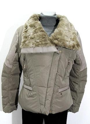 Стильная  бежевая демисезонная женская куртка. kor@kor