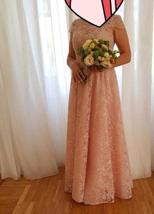 Свадебное платье ручной работы!