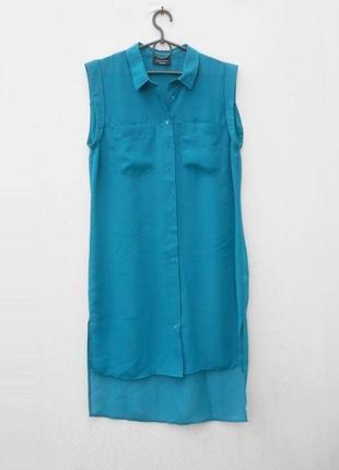 Летнее свободное шифоновое платье рубашка туника пляжная 🌿