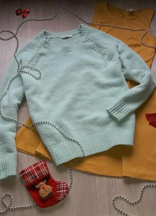 Мятный велюровый свитер оверсайз george плюшевый