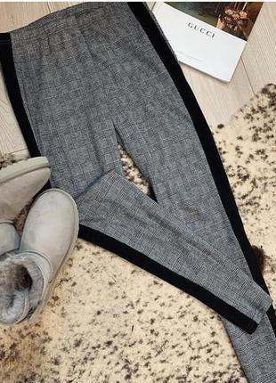 Брюки штаны лосины легинсы с высокой талией и лампасами